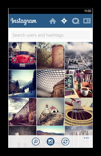 Дизайн Instagram