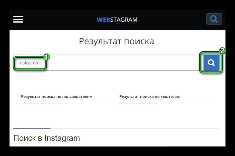 Начало поиска в сервисе StaPico в браузере