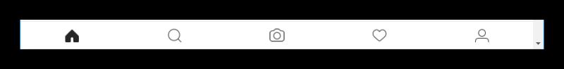Новая панель на сайте Instagram