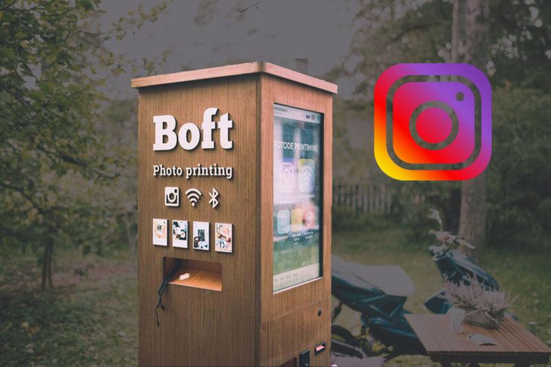 Автомат для печати фото из instagram