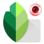 Как в Snapseed убрать красные глаза