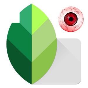 Snapseed убираем красные глаза